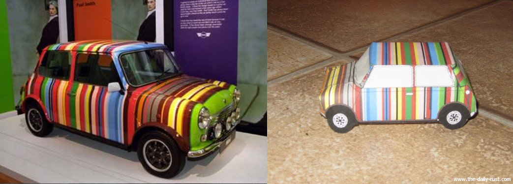 how to make a mini car with paper
